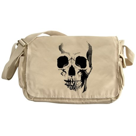 skull messenger bag by opheliasart