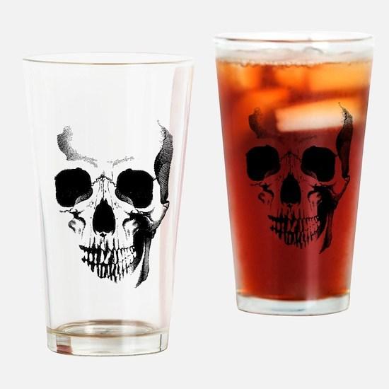 Skull Face Drinking Glass