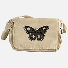 Gothic Skull Butterfly Messenger Bag