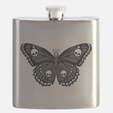 Gothic Skull Butterfly Flask