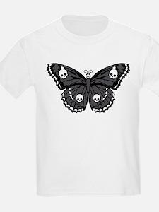 Gothic Skull Butterfly T-Shirt