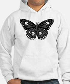 Gothic Skull Butterfly Hoodie