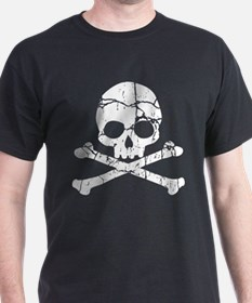 Crackled Skull And Crossbones T-Shirt