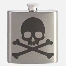 Simple Skull And Crossbones Flask