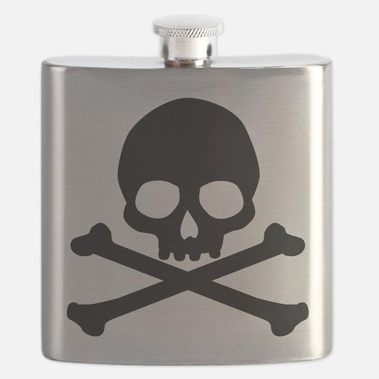 Simple Skull And Crossbones Flask