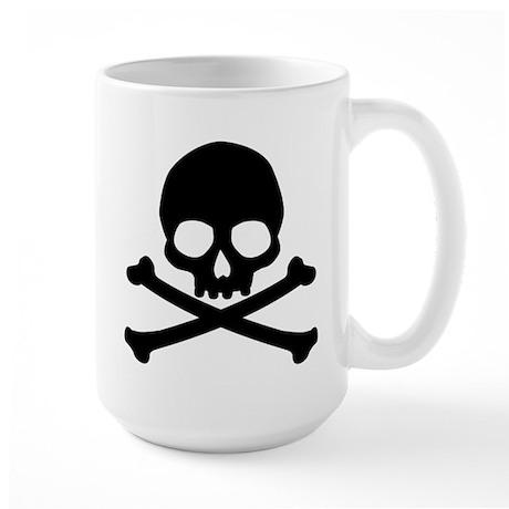 Simple Skull And Crossbones Large Mug