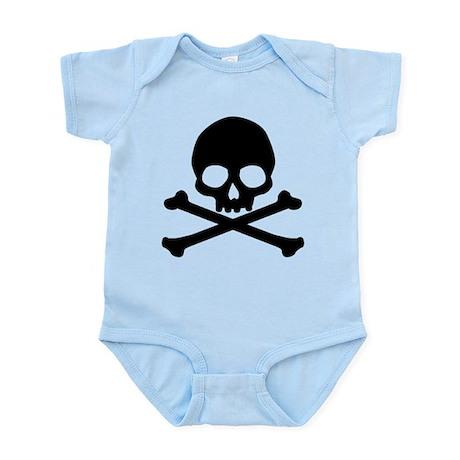 Simple Skull And Crossbones Infant Bodysuit