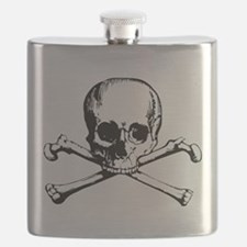Classic Skull And Crossbones Flask