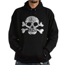 Worn Skull And Crossbones Hoodie