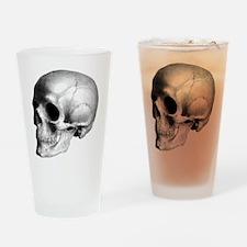 Skull Illustration Drinking Glass