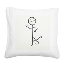 Pull My Finger! Square Canvas Pillow