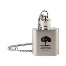 ALWAYS CHANGING.. Flask Necklace