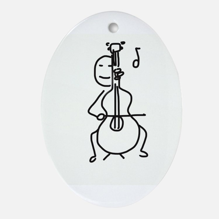 Palo Plays the Cello Ornament (Oval)