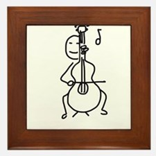 Palo Plays the Cello Framed Tile