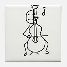 Palo Plays the Cello Tile Coaster