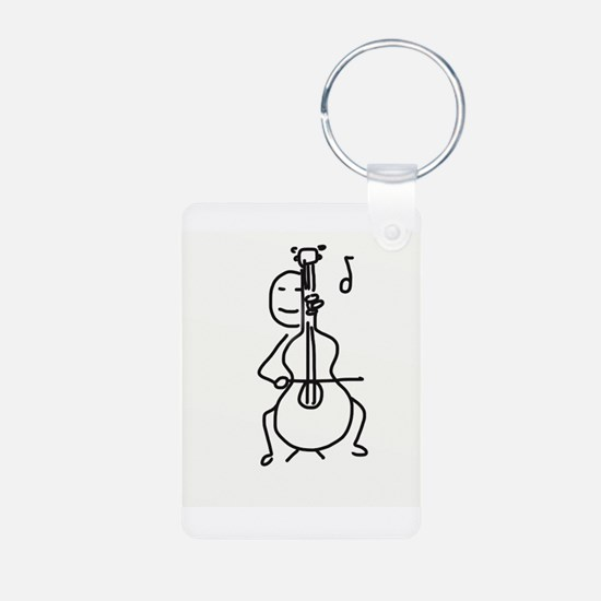Palo Plays the Cello Keychains