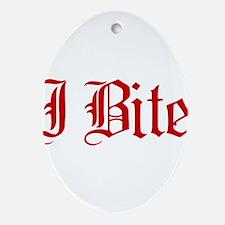 Text I Bite Ornament (Oval)