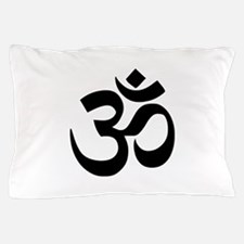 Simple Black Om Aum Symbol Pillow Case