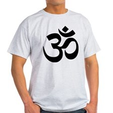 Simple Black Om Aum Symbol T-Shirt