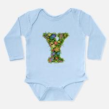 Y Floral Long Sleeve Infant Bodysuit