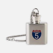 I-5 California Flask Necklace