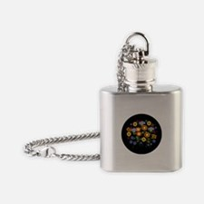 flower power Flask Necklace