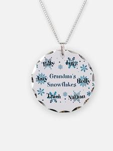 Custom kids snowflakes Necklace