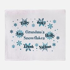 Custom kids snowflakes Throw Blanket
