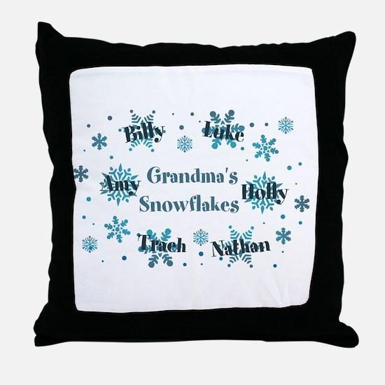 Custom kids snowflakes Throw Pillow