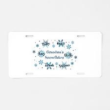 Custom kids snowflakes Aluminum License Plate
