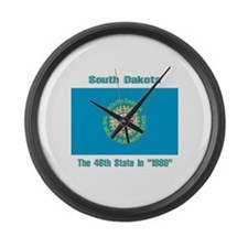South Dakota the 46th State Large Wall Clock