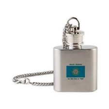 South Dakota the 46th State Flask Necklace
