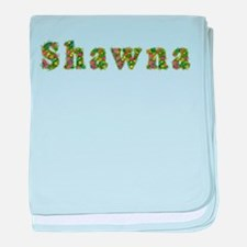 Shawna Floral baby blanket