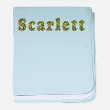 Scarlett Floral baby blanket