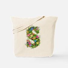 S Floral Tote Bag