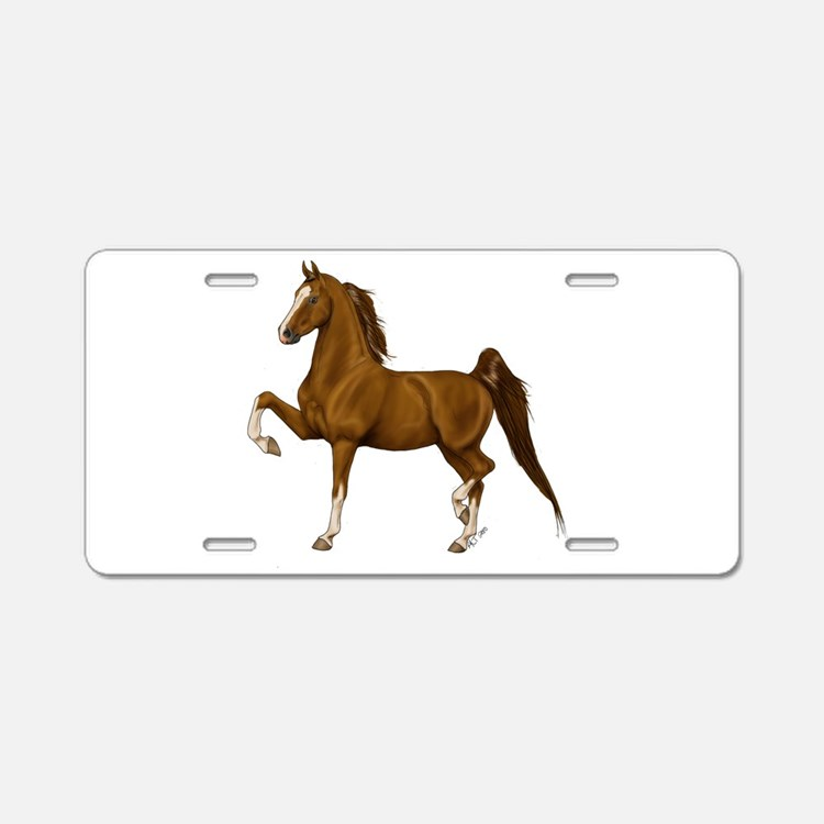 Cute Saddlebred Aluminum License Plate