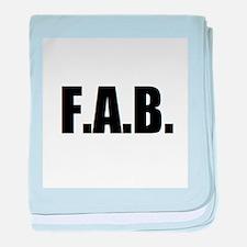 F.A.B. baby blanket
