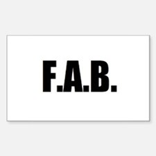 F.A.B. Decal