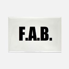 F.A.B. Rectangle Magnet