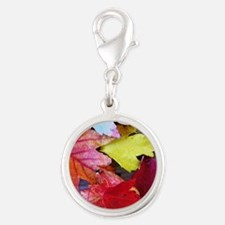 .autumn leaves. Silver Round Charm