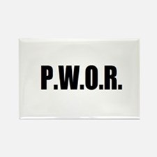 P.W.O.R. Rectangle Magnet