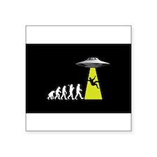 "UFOvolution Square Sticker 3"" x 3"""