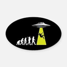 UFOvolution Oval Car Magnet