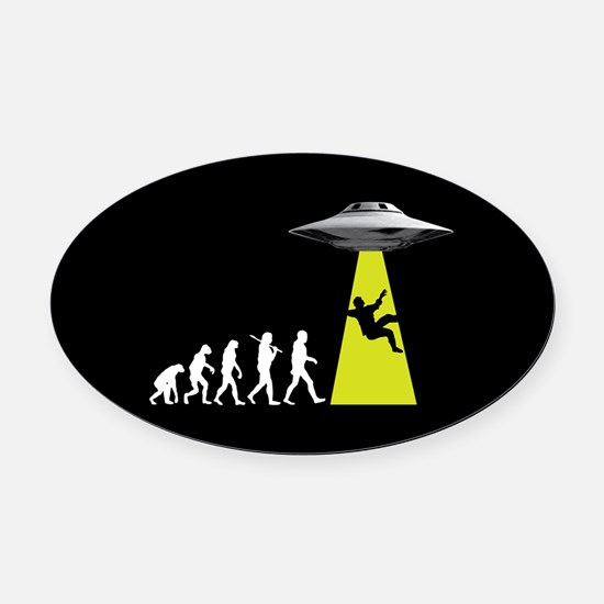 UFOvolution Oval Car Magnet