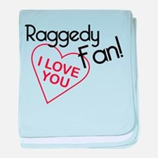 Raggedy Fan baby blanket