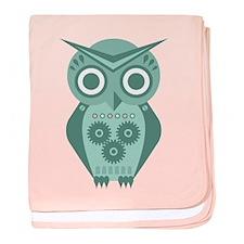 Owl Robot #2 baby blanket