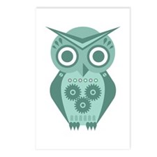 Owl Robot #2 Postcards (Package of 8)