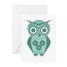 Owl Robot #2 Greeting Cards (Pk of 10)