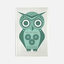 Owl Robot #2 Rectangle Magnet