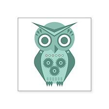 "Owl Robot #2 Square Sticker 3"" x 3"""